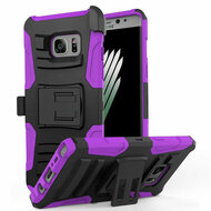 Advanced Armor Hybrid Kickstand Case with Holster for Samsung Galaxy Note 7 - Black Purple