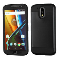 Brushed Hybrid Armor Case for Motorola Moto G4 / G4 Plus - Black