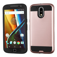 *SALE* Brushed Hybrid Armor Case for Motorola Moto G4 / G4 Plus - Rose Gold
