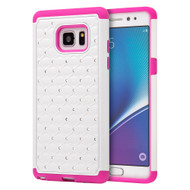 TotalDefense Diamond Hybrid Case for Samsung Galaxy Note 7 - White Hot Pink