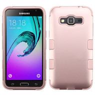 Military Grade TUFF Hybrid Armor Case for Samsung Galaxy Amp Prime / Express Prime / J3 / Sol - Rose Gold 086
