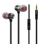 Sonic Metal Noise Isolating In-Ear Headphones with Mic - Black