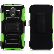 *SALE* Advanced Armor Hybrid Kickstand Case with Holster for Motorola Moto G4 / G4 Plus - Black Green