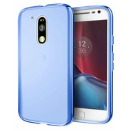 Rubberized Crystal Case for Motorola Moto G4 / G4 Plus - Blue