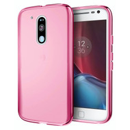 Rubberized Crystal Case for Motorola Moto G4 / G4 Plus - Hot Pink