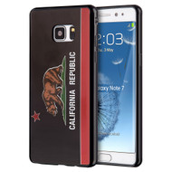 Graphic Rubberized Protective Gel Case for Samsung Galaxy Note 7 - California Black