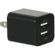 *SALE* 2 USB Port AC Travel Wall Charger Adapter - Black
