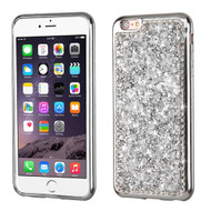 Desire Bling Bling Electroplated TPU Case for iPhone 6 Plus / 6S Plus - Rhinestones Silver 232