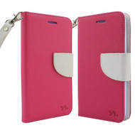 *Sale* Leather Wallet Shell Case for LG K3 - Hot Pink