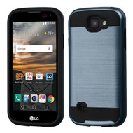Brushed Hybrid Armor Case for LG K3 - Ink Blue