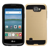 Brushed Hybrid Armor Case for LG K3 - Gold