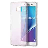 Glassy Transparent Gummy Cover for Samsung Galaxy Note 7 - Clear