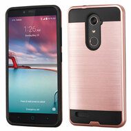 Brushed Hybrid Armor Case for ZTE Zmax Pro / Grand X Max 2 / Imperial Max / Max Duo 4G - Rose Gold