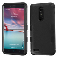 Military Grade TUFF Hybrid Armor Case for ZTE Zmax Pro / Grand X Max 2 / Imperial Max / Max Duo 4G - Black