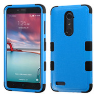 Military Grade Certified TUFF Hybrid Armor Case for ZTE Zmax Pro / Grand X Max 2 / Imperial Max / Max Duo 4G - Blue
