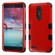 Military Grade Certified TUFF Hybrid Armor Case for ZTE Zmax Pro / Grand X Max 2 / Imperial Max / Max Duo 4G - Red