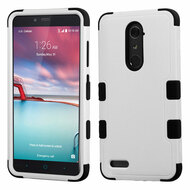 Military Grade Certified TUFF Hybrid Armor Case for ZTE Zmax Pro / Grand X Max 2 / Imperial Max / Max Duo 4G - Grey