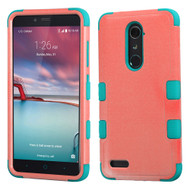 *Sale* Military Grade TUFF Hybrid Armor Case for ZTE Zmax Pro / Grand X Max 2 / Imperial Max / Max Duo 4G - Pink Teal
