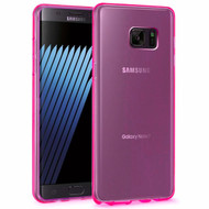 Rubberized Crystal Case for Samsung Galaxy Note 7 - Hot Pink