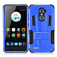 Transformer Hybrid Armor Case with Stand for ZTE Zmax Pro / Grand X Max 2 / Imperial Max / Max Duo 4G - Blue