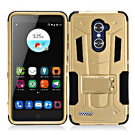Transformer Hybrid Armor Case with Stand for ZTE Zmax Pro / Grand X Max 2 / Imperial Max / Max Duo 4G - Gold