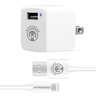 HyperGear 2.4A Rapid Wall Charger with 4ft MFi Lightning Cable - White