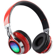 HyperGear V40 Rave Bluetooth Wireless Stereo LED Headphones with Microphone - Red