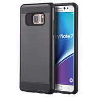Silkee Anti Shock Hybrid Armor Case for Samsung Galaxy Note 7 - Black