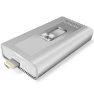 Naztech Xtra Drive MFi Lightning External Storage for iPad and iPhone - Silver