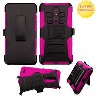 Advanced Armor Hybrid Kickstand Case with Holster for ZTE Zmax Pro - Hot Pink