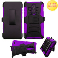 Advanced Armor Hybrid Kickstand Case with Holster for ZTE Zmax Pro - Purple
