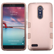 *SALE* Military Grade TUFF Hybrid Armor Case for ZTE Zmax Pro / Grand X Max 2 / Imperial Max / Max Duo 4G - Rose Gold