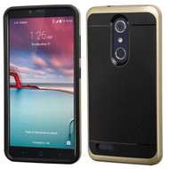 Bumper Frame Hybrid Case for ZTE Zmax Pro / Grand X Max 2 / Imperial Max / Max Duo 4G - Gold