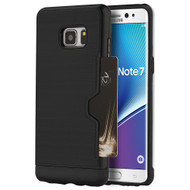 Card Away Silk Dual Hybrid Case for Samsung Galaxy Note 7 - Black