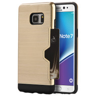 Card Away Silk Dual Hybrid Case for Samsung Galaxy Note 7 - Gold