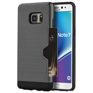 Card Away Silk Dual Hybrid Case for Samsung Galaxy Note 7 - Grey
