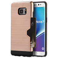 Card Away Silk Dual Hybrid Case for Samsung Galaxy Note 7 - Rose Gold