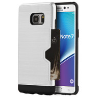 Card Away Silk Dual Hybrid Case for Samsung Galaxy Note 7 - White