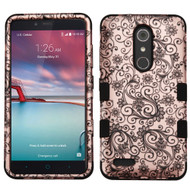 Military Grade Certified TUFF Hybrid Case for ZTE Zmax Pro / Grand X Max 2 / Imperial Max / Max Duo 4G - Leaf Clover