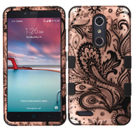 Military Grade TUFF Hybrid Case for ZTE Zmax Pro / Grand X Max 2 / Imperial Max / Max Duo 4G - Phoenix Flower
