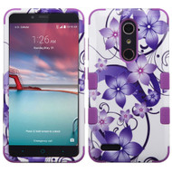 Military Grade TUFF Hybrid Case for ZTE Zmax Pro / Grand X Max 2 / Imperial Max / Max Duo 4G - Hibiscus Flower