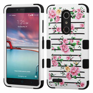 Military Grade TUFF Image Hybrid Armor Case for ZTE Zmax Pro / Grand X Max 2 / Imperial Max / Max Duo 4G - Roses