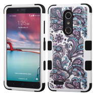 Military Grade Certified TUFF Hybrid Case for ZTE Zmax Pro / Grand X Max 2 / Imperial Max / Max Duo 4G - Persian Paisley