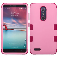 Military Grade TUFF Hybrid Armor Case for ZTE Zmax Pro / Grand X Max 2 / Imperial Max / Max Duo 4G - Soft Pink