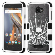 Military Grade Certified TUFF Image Hybrid Armor Case for Coolpad Catalyst - Sword and Skull