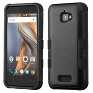 Military Grade Certified TUFF Hybrid Armor Case for Coolpad Catalyst - Black