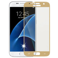 *SALE* HD Curved Coverage Premium Tempered Glass Screen Protector for Samsung Galaxy S7 - Gold