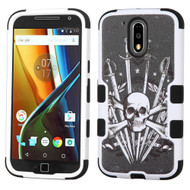 *Sale* Military Grade TUFF Image Hybrid Armor Case for Motorola Moto G4 / G4 Plus - Sword and Skull