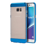 Flexsilk Bumper Frame Transparent Hybrid Case for Samsung Galaxy Note 7 - Blue