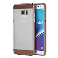 Flexsilk Bumper Frame Transparent Hybrid Case for Samsung Galaxy Note 7 - Gold